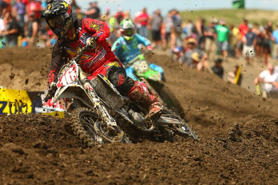 Osborne endured to finish fifth overall, maintaining his championship points lead.Photo: MX Sports Pro Racing / Jeff Kardas