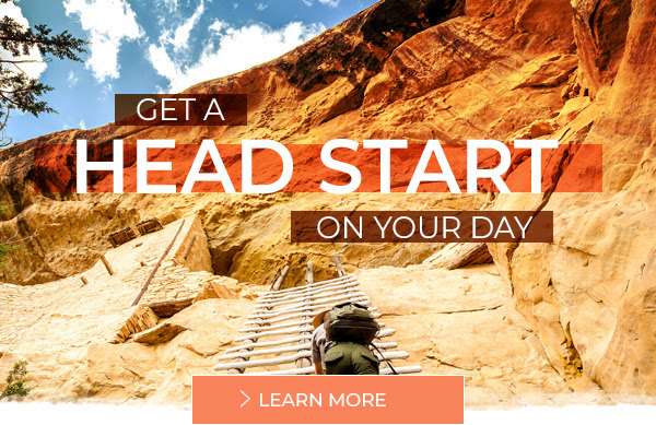 Get a head start on your day - Learn more