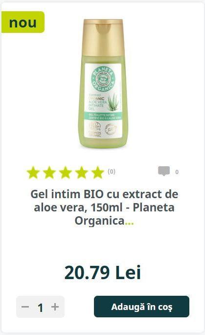 Gel intim BIO cu extract de aloe vera, 150ml - Planeta Organica...