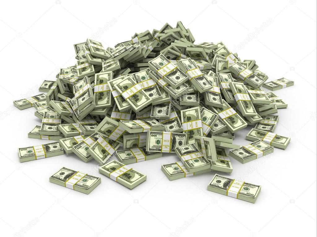 Dollars. Pile from packs of money ⬇ Stock Photo, Image by © maxxyustas #23920645
