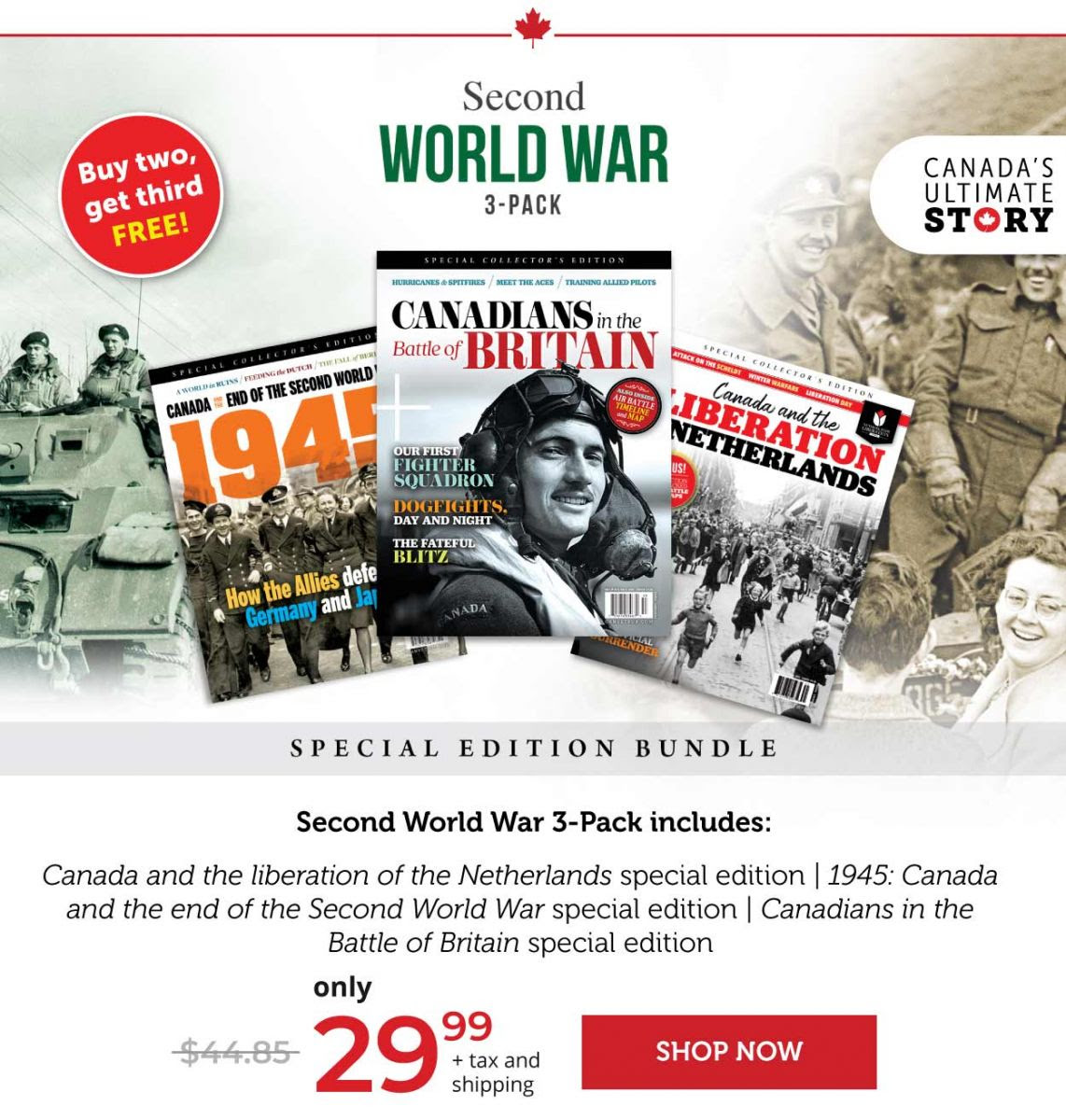 Second World War 3-pack – Buy two, get third FREE!