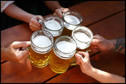 Alcohol poisoning is typically caused by binge drinking at high intensity.