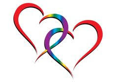 Image result for 2 small hearts entwined