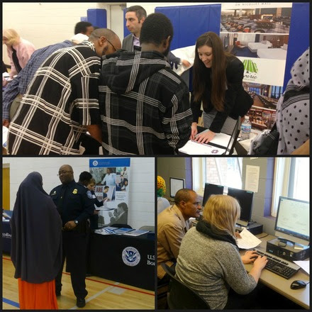 Cedar Riverside Career Fair Collage