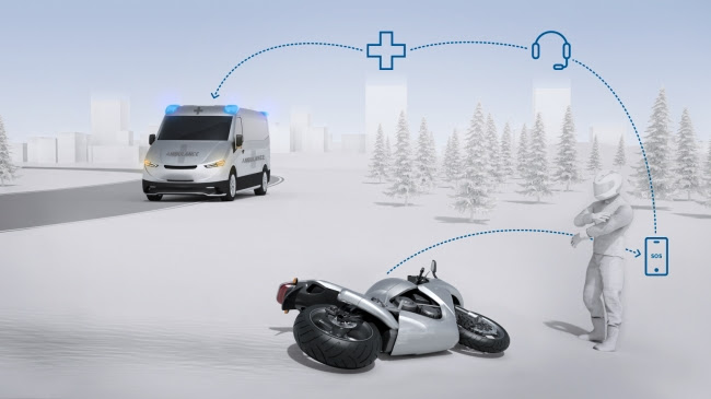 ボッシュ、二輪車向け自動緊急通報システム「ヘルプコネクト」を開発