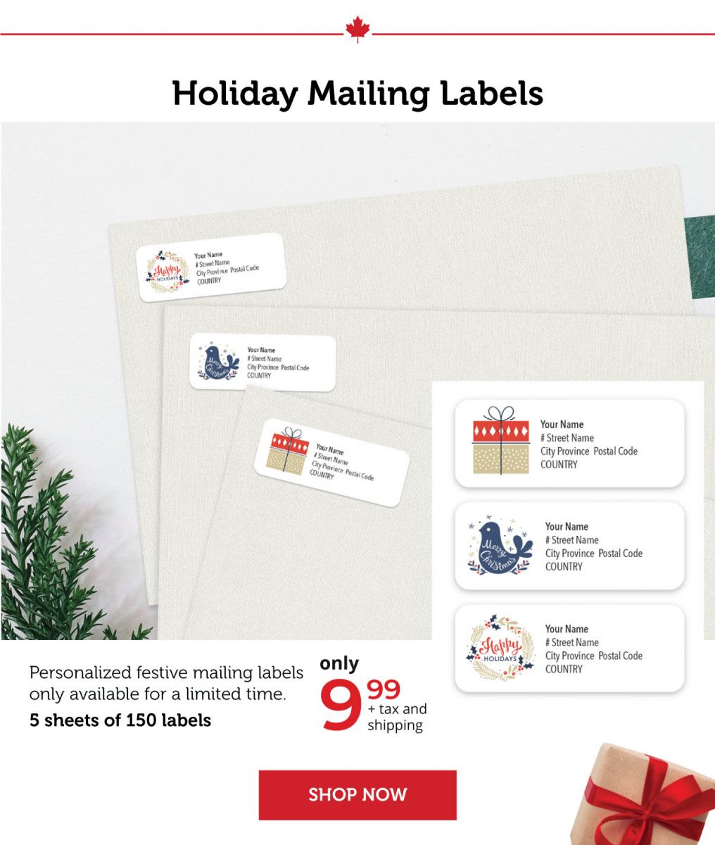 Holiday Mailing Labels