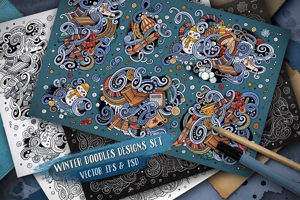 Winter Doodle Designs