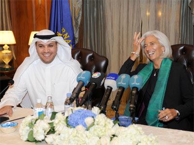 Lagarde, con el gobernador del Banco Central de Kuwait, hace unos días. REUTERS/Stephanie McGehee