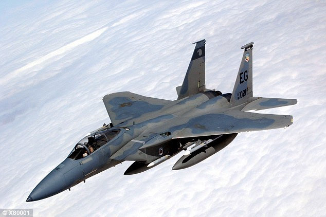 The twin-engine F-15Cs have air-to-air missile capability only