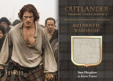 Cryptozoic Entertainment at New York Comic Con 2018 Outlander Trading Cards Season 3 — Wardrobe Cards CE5