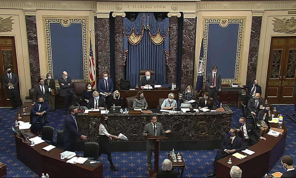 Senate trial to continue after harrowing video evidence