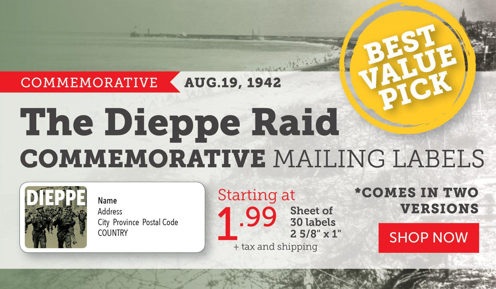 The Dieppe Raid Mailing Labels