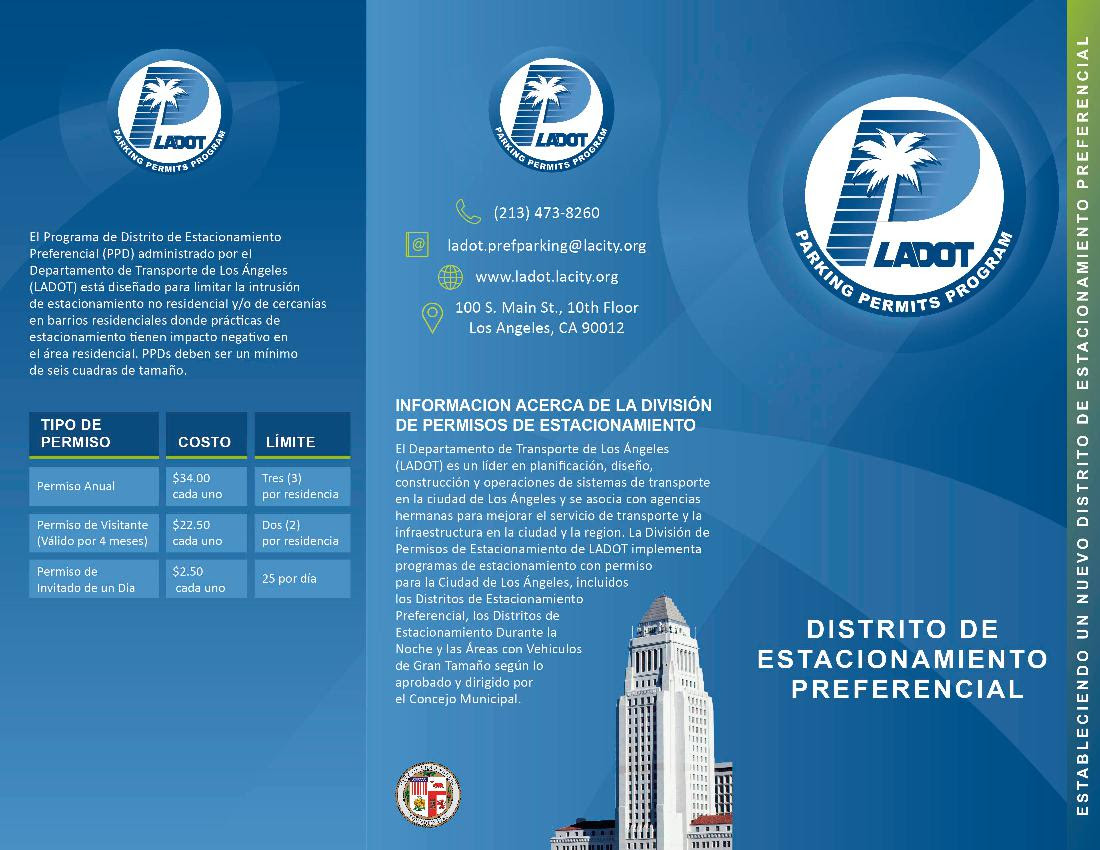 Preferential Parking Dist Spanish Page 1