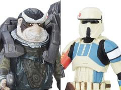 ROGUE ONE SHORETROOPER CAPTAIN & BISTAN FIGURES