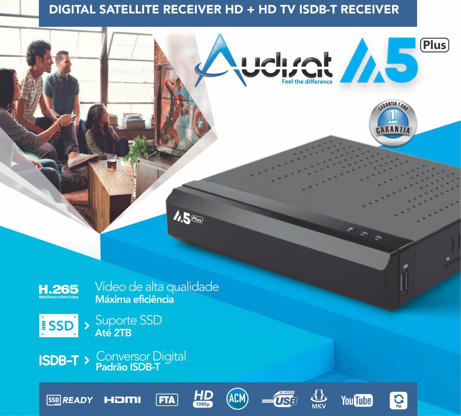 pJXOX04 - AUDISAT A5 PLUS NOVA ATUALIZAÇÃO V1.3.18 - 17/08/2017