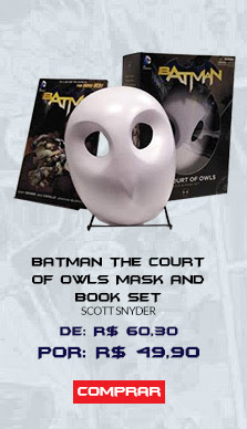 BATMAN - THE COURT OF OWLS MASK AND BOOK SET