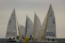 J/80 sailboats- sailing off Spain