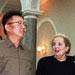 Kim Jong-il, North Korea's leader, and Secretary of State Madeleine K. Albright in Pyongyang in October 2000.