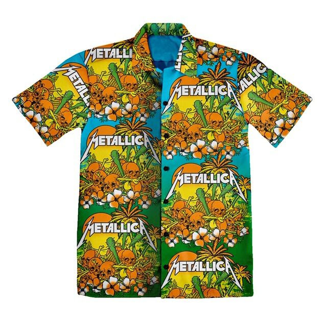 Skull Sunrise Hawaiian Shirt