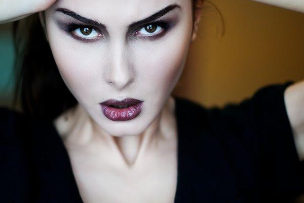 Gothic portrait of brunette