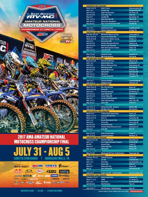Click the 2017 schedule advertisement to download file for print and web sharing.