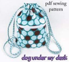 Bigger on the Inside Drawstring Backpack - PDF Pattern
