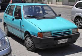 Image result for old blue fiat hatchback