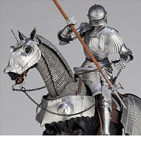 KT PROJECT KT-027 15TH CENTURY EQUESTRIAN ARMOR (SILVER)