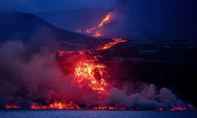Lava do vulcão de La Palma se transformará em vidro sob a água