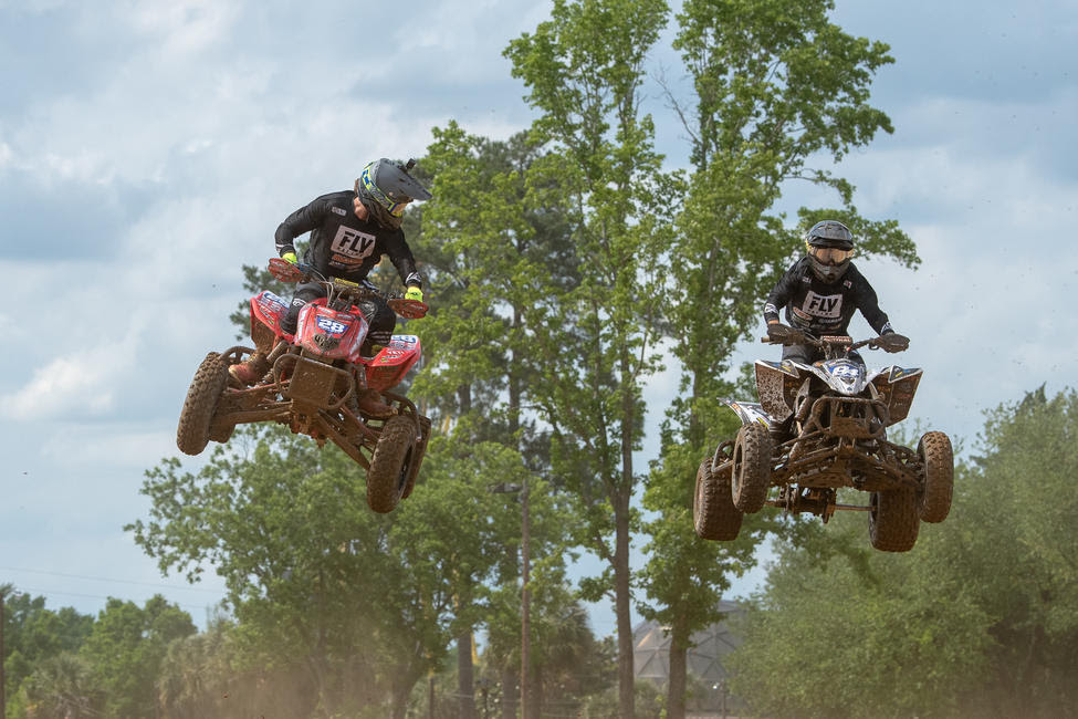 Jeffrey Rastrelli and Thomas Brown battled bar-to-bar for majority of the motos.