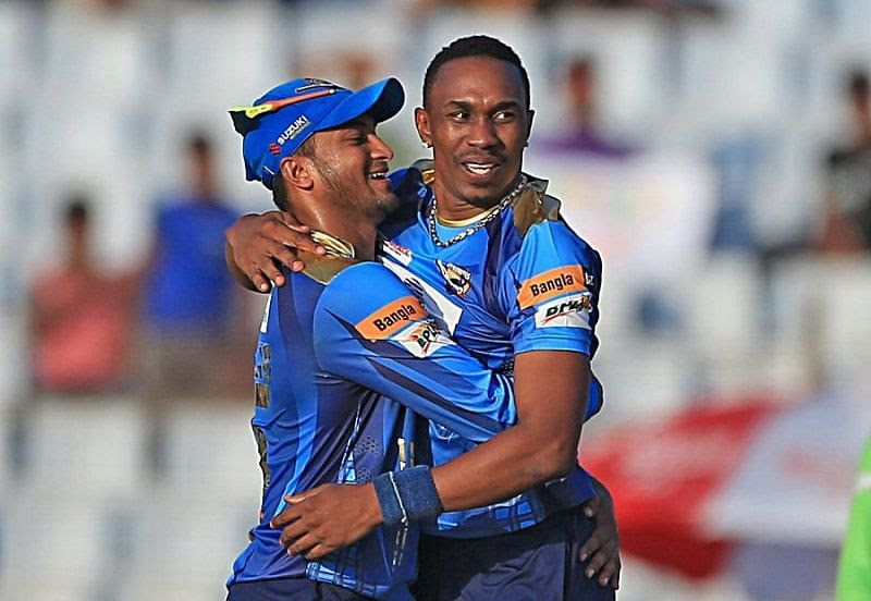 Dwayne Bravo sealed the match for Dhaka Dynamites with a boundary