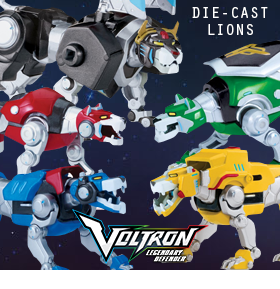 VOLTRON DIE-CAST LION FIGURES