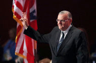 Sheriff Joe Arpaio of Arizona at the Republican National Convention in July. His hard-line stance on illegal immigration elevated him to national prominence.