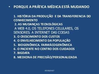 O FUTURO DA PRÁTICA MÉDICA