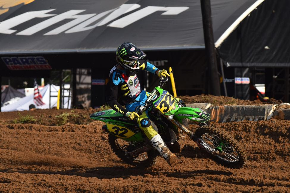 Jordan Bailey has yet to finish off the podium in boththe 250 B and Schoolboy 2 (13-16) B/C classes.Photo: Ken Hill