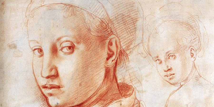 Study of a Boy Turning His Head (detail), Jacopo Pontormo, c. 1529, Uffizi Gallery, Florence, Italy.
