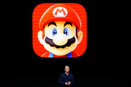 Apple's chief, Tim Cook, said that the hit game Super Mario would come to the App Store.