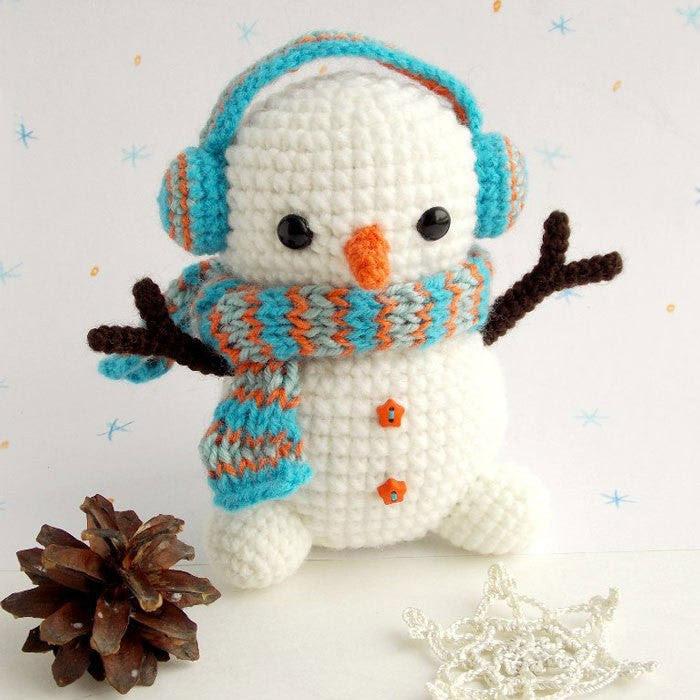 motif de bonhomme de neige Crochet - PDF imprimable