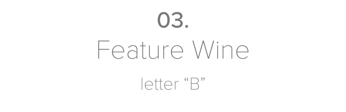 """03.Feature Wineletter """"B"""""""