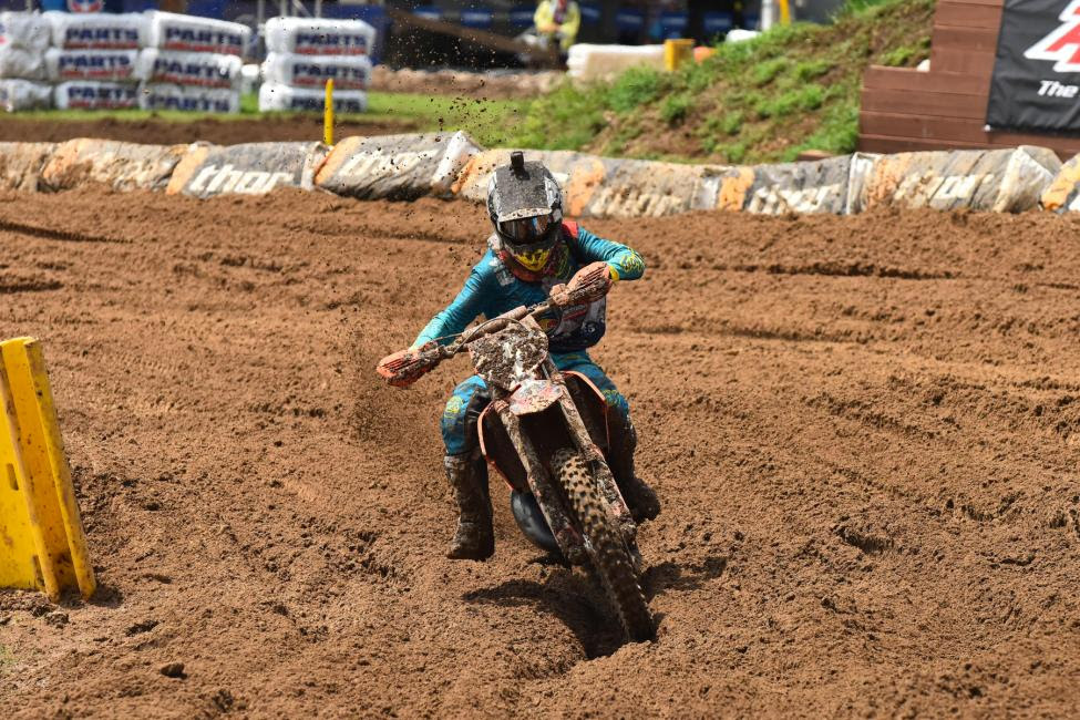 Derek Drake is sitting in a comfortable position to earn the 125 (12-16) B/CNational Championship with a set of podium finishes.Photo: Ken Hill
