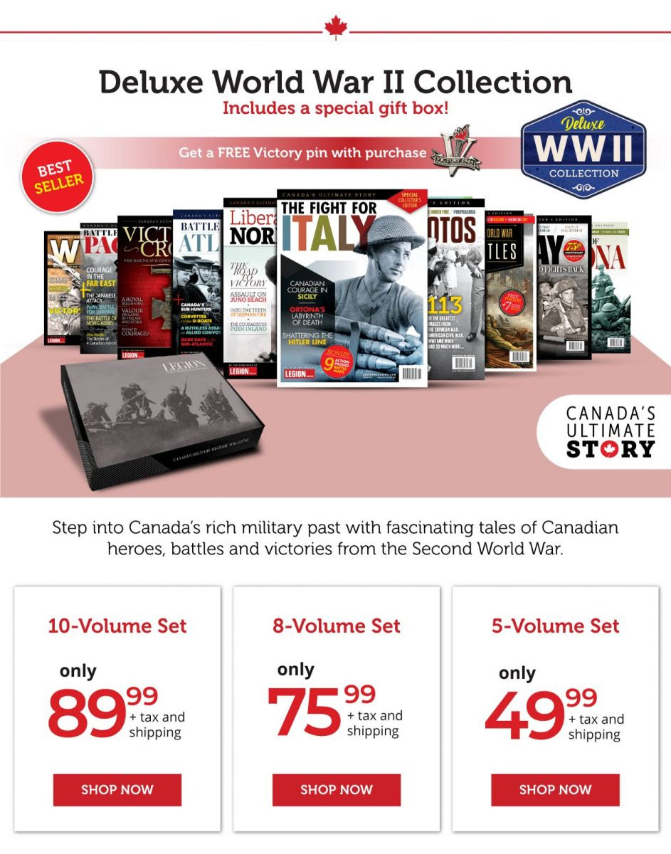 Canada's Ultimate Story – World War II Collection - Comes in 3 Versions!