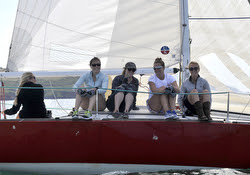 J/24 women's team sailing England