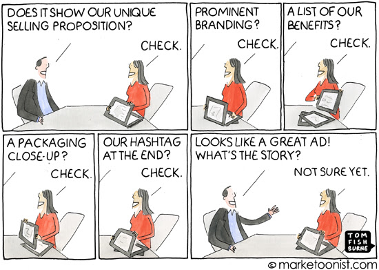 """Ad Creative Checklist"" cartoon"