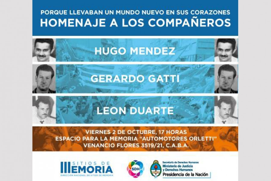 Homenaje en Argentina a los fundadores de la CNT, León Duarte, Gerardo Gatti y Hugo Méndez