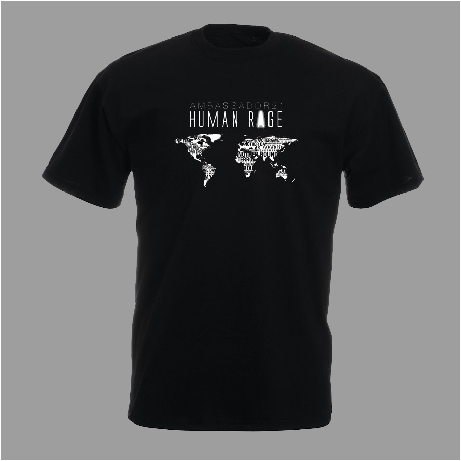 """Human Rage"" t-shirt men & girlie"