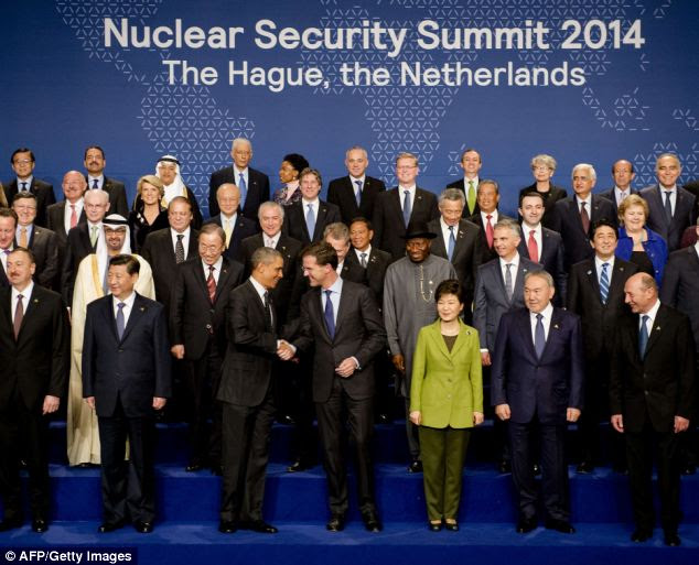 The two-day summit was convened to discuss the threat nuclear weapons pose to the world