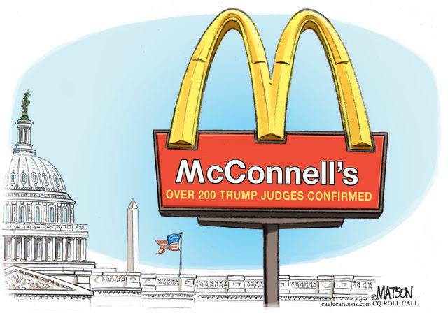 SENATE MAJORITY LEADER MITCH MCCONNELL TRUMP JUDGE CONFIRMATIONS