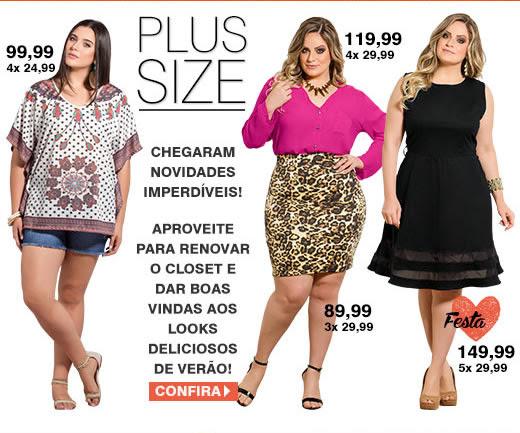 Plus Size - Chegaram novidades imperdíveis! | Aproveite para renovar o closet e dar boas vindas aos looks deliciosos de verão - Confira
