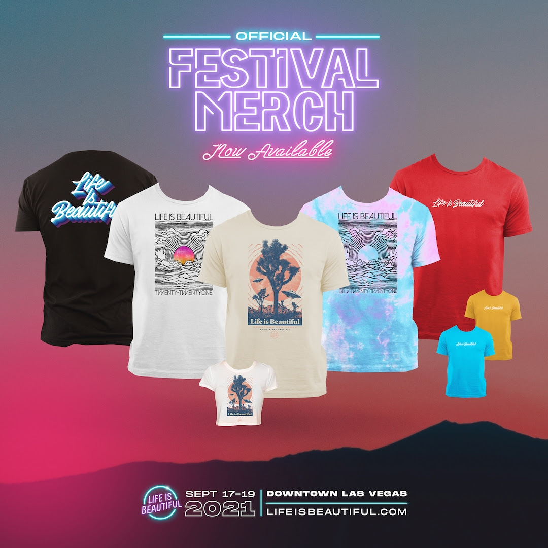 Pre-Order Official Life is Beautiful 2021 Merchandise
