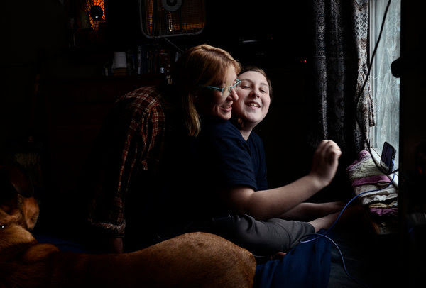 Rebecca Ribeiro with her son, Max.